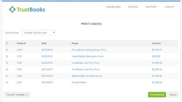 Trustbooks Check Printing